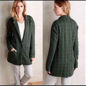 Anthropologie Cartonnier Green Herringbone…